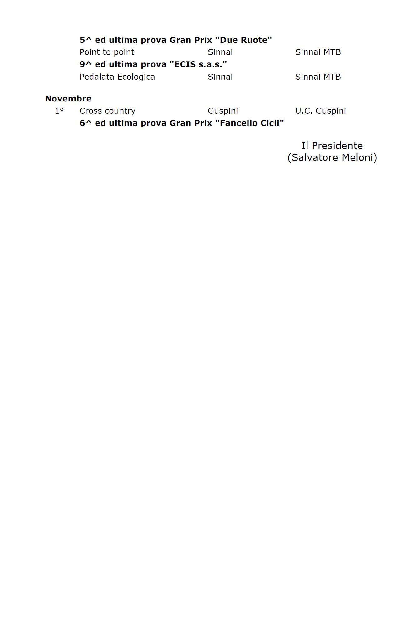 Fci Calendario.Pul Sar Calendario Ufficiale Fci Comitato Regione